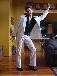 Poor-man's suit - for 8th Grade Promotion Dance.